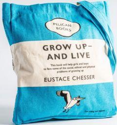 Υφασμάτινη Τσάντα Penguin: Grow up and live (Eustache Chesser)