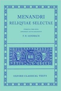 Menandri Reliquiae Selectae (Oxford Classical Texts)