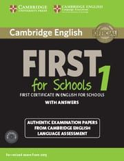 First For Schools 1 (Revised Exam 2015): Self study Edition (With Answers & Audio Cd's)