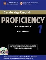 Cambridge English Proficiency 1 for Updated Exam (2013). Self study Pack- Practice tests, answers and Audio cd's