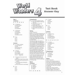 World Wonders 4 Test Book Answer Key