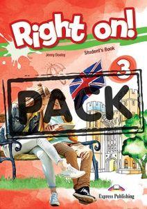Right On 3: Jumbo Pack (Student's Book, Workbook, Companion, Grammar (Greek Edition), iebook, CLIL Reader)