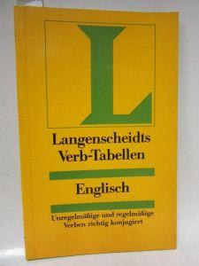 Langenscheidts Verb-Tabellen: Englisch