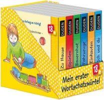 DUDEN -  Mein erster Wortschatzwurfel, 6 Bande (6 Τόμοι με τις πρώτες Λέξεις από 18 Μηνών) Zuhause, Einkaufen, Fahrzeuge, Mein Korper, Bauernhof und Spielen