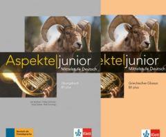 Aspekte junior B1+: Ubungsbuch mit Audios zum Download & Griechisches Glossar (Σετ 2 τεμαχίων Βιβλίο Ασκήσεων & Γλωσσάριο)
