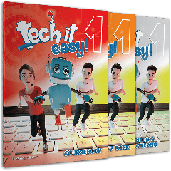 Tech it Easy 1 : Πακέτο βιβλίων Μαθητή (Coursebook & Activity Book & Writer's Portofolio & i-Book & Audio CD Grammar Songs)