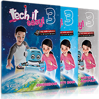 Tech it easy 3: Πακέτο 1 (Coursebook, Activity, Writer's Portofolio, i-book, + Δώρο Παγκόσμιος Χάρτης με τον Ήρωα της σειράς)